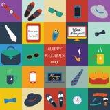 Raccolta variopinta di progettazione Giorno di padri felice Immagine Stock Libera da Diritti