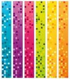Raccolta verticale delle insegne del sito Web Fotografia Stock