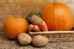 Raccolto delle verdure fresche di autunno o di caduta Fotografia Stock