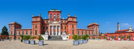 Racconigi castle panoramic view. Stock Photos