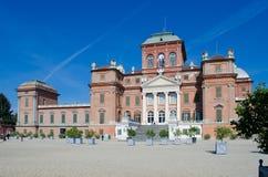 Racconigi slott nära Turin, Italien. Facade Fotografering för Bildbyråer
