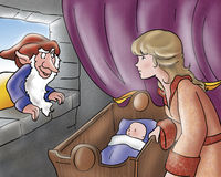 Racconti diabolici del regina-fairy e dell'elfo Fotografie Stock