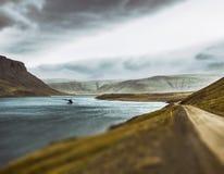 Racconto leggiadramente della balena dell'Islanda immagini stock