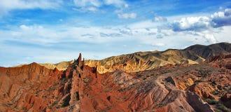 Racconto variopinto del canyon fotografie stock