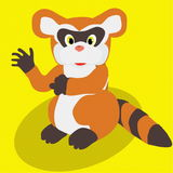 Raccoon. A vectorial image of raccoon Royalty Free Stock Photos