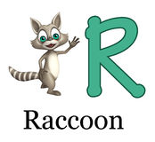 Raccoon with alphabet. 3d rendered illustration of Raccoon with alphabet Royalty Free Stock Photos
