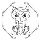 Raccoon animal cartoon design Royalty Free Stock Photography