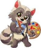 Raccoon artist Royalty Free Stock Photography