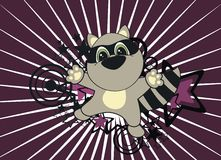 Raccoon baby cartoon background Royalty Free Stock Photo
