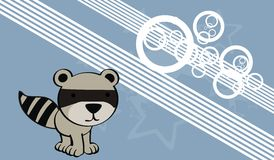 Raccoon baby cute cartoon background Royalty Free Stock Images