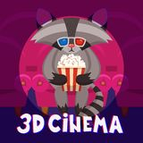 Raccoon Cinema Poster Stock Image