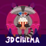 Raccoon Cinema Poster Stock Image