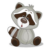 Raccoon. Cute Raccoon isolated on a white background vector illustration