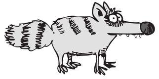 Raccoon dos desenhos animados ilustração do vetor