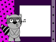 Raccoon emotion frame background Stock Photography