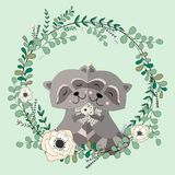 2018 02 23_raccoon2_eucalyptus stock illustrationer
