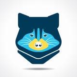 Raccoon face icon illustration Royalty Free Stock Photo