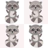 2018年 02 09_raccoon_h 向量例证