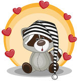 Raccoon with hearts Royalty Free Stock Photos