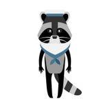 Raccoon sailor Royalty Free Stock Image