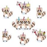 Raccoon party stock illustration