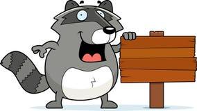 Raccoon Sign royalty free illustration