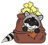 Raccoon sitting in a bag Stock Photo