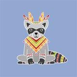 Raccoon Wearing Tribal Clothing Royalty Free Stock Image