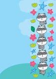 Raccoon zen vertical cute Royalty Free Stock Image