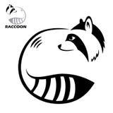Raccoonetikett Arkivbild