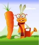 Raccord en caoutchouc heureux de lapin et de géant illustration libre de droits