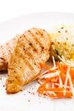 Raccordi cotti del pollo Fotografie Stock