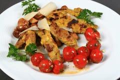 Raccordi del pollo fritto Immagine Stock