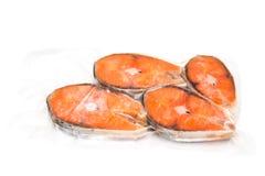 Raccordi di color salmone congelati immagine stock libera da diritti