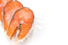 Raccordi di color salmone congelati immagini stock