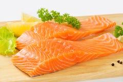 Raccordi di color salmone crudi Fotografia Stock