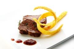 Raccordo della bistecca dei cervi Fotografie Stock Libere da Diritti