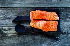 Raccordo di color salmone grezzo Immagine Stock