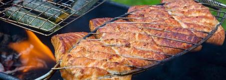 Raccordo di color salmone sulla griglia Immagine Stock