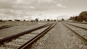 Raccordo ferroviario isolato del paese Immagini Stock Libere da Diritti