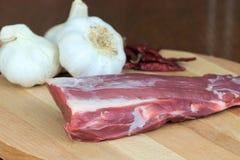 Raccordo organico della carne di maiale Fotografia Stock