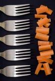 Raccords en caoutchouc et fourchettes Image libre de droits