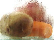 Raccords en caoutchouc et pommes de terre Images stock