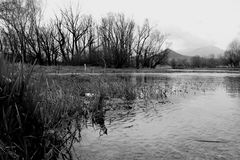 Raccourci de lac Posta Fibreno Images libres de droits
