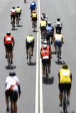 Race. Cyclists in the Cape Argus race in Cape Town Stock Photos