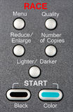 Race according to design Stock Photo