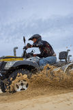 The race  atv in difficult conditions. Royalty Free Stock Photos