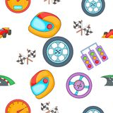 Race and awarding pattern, cartoon style Royalty Free Stock Images