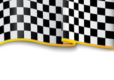 Race background. Checkered black and white Stock Photography