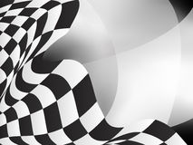 Race background checkered flag vector design. Element Stock Image